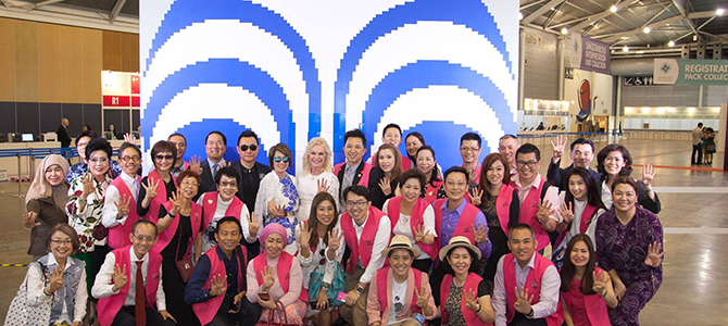 Thousands of delegates from Thailand, Philippines, Singapore, Malaysia, Brunei, Indonesia, Vietnam, and from various corners of the Nu Skin world filled the Singapore EXPO for 3 days
