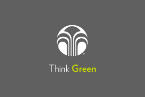 """Think Green"" with Nu Skin logo"