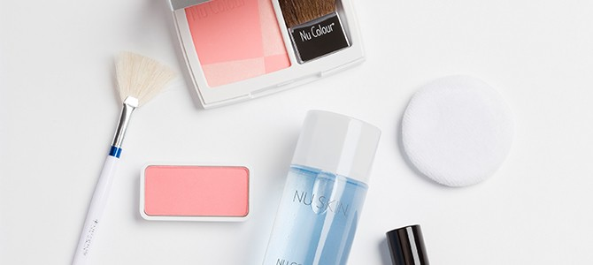 Nu Colour products used for a natural makeup look