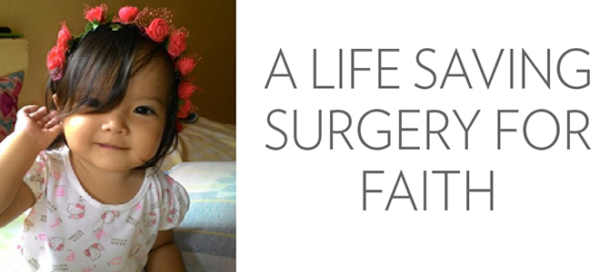 Faith Cañete smiling after her congenital heart disease surgery